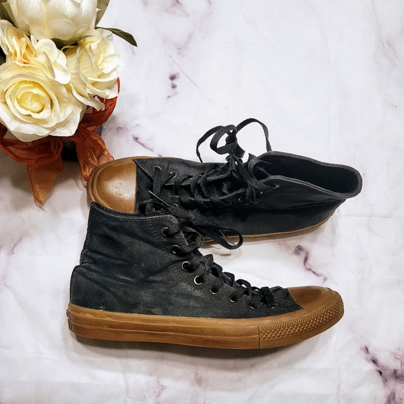 Converse High Tops Black and Brown size 10